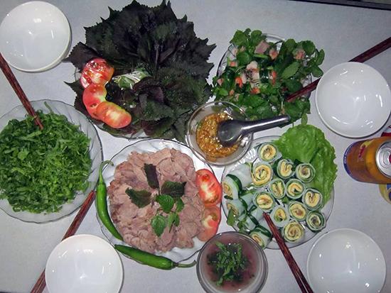Các món ăn mừng Tết Dương lịch. Ảnh: P.C.BẢO