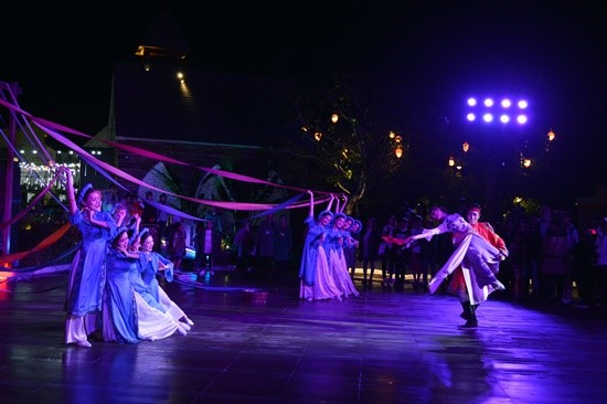 Performances at the Hoi An Impression Theme Park.