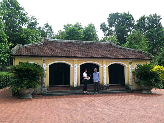 Di tích quốc gia Nhà lưu niệm Cụ Huỳnh Thúc Kháng vẫn còn nhiều hạng mục đang được huyện tiếp tục tôn tạo.