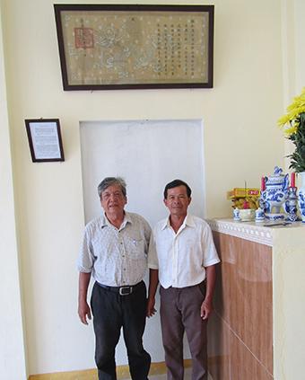 Tấm sắc phong trong tự đường họ Nguyễn phái 2 ở Tam Nghĩa.