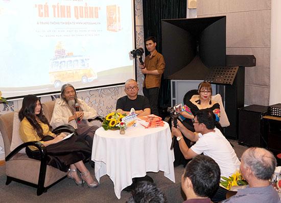 """Ra mắt cuốn sách """"Cá tính Quảng"""" tại TP.Hồ Chí Minh. Ảnh: X.T"""
