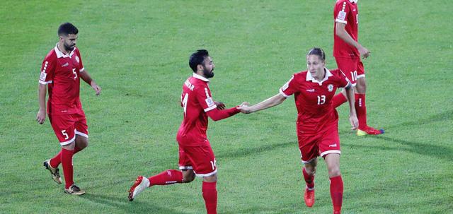 Dù thắng Triều Tiên 4-1 để san bằng hiệu số với Việt Nam nhưng Lebanon vẫn bị loại vì thẻ phạt nhiều hơn - Ảnh: AFC