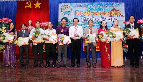 Họp mặt Hội đồng hương Quảng Nam - Đà Nẵng tại Bình Phước vào cuối năm 2018. Ảnh: XUÂN THỌ