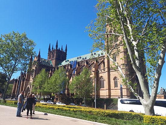 nhà thờ chính tòa của Úc ở Sydney. ảnh: Cô Giang
