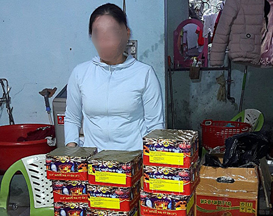 Một vụ vận chuyển trái phép pháo nổ bị Công an huyện Đại Lộc phát hiện ngay trước Tết Nguyên đán vừa qua. Ảnh: T.C