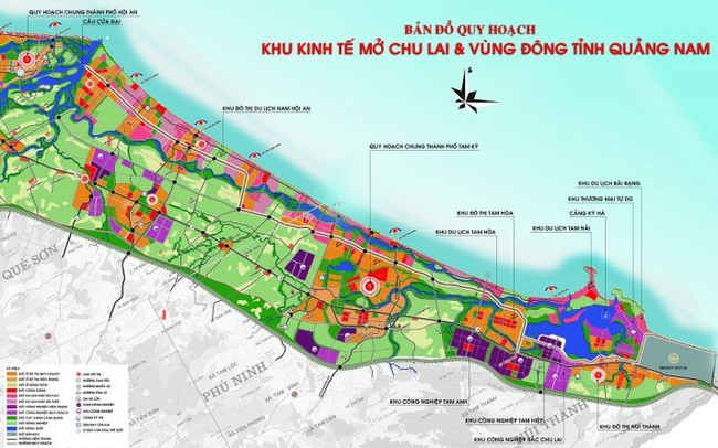 Planning map of the Chu Lai OEZ