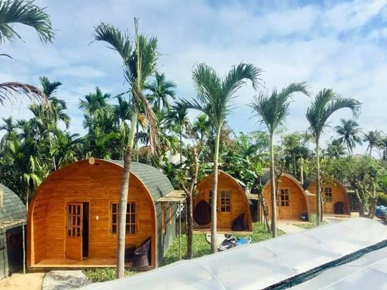 Rất nhiều ngôi nhà bằng gỗ phục vụ cho khách lưu trú