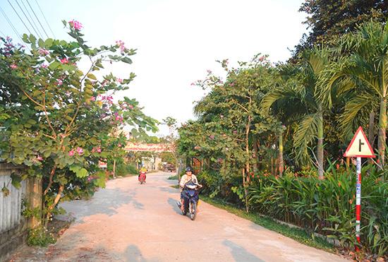Cảnh quan đường sá thoáng, xanh, đẹp ở một khu dân cư đạt chuẩn MTN của Điện Bàn. Ảnh: C.T