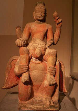 Statue of Vishnu – Garuda, a Champa traditional art piece in Guimet Musem