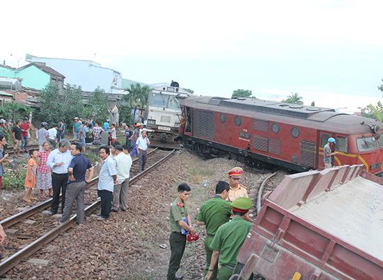 Vụ tai nạn đường sắt nghiêm trọng xảy ra vào tháng 5.2018 liên quan đến lỗi chủ quan của nhân viên đường sắt. Ảnh: T.C