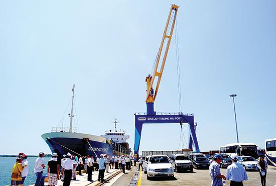 Cảng Chu Lai sẽ được nâng cấp, mở rộng. Ảnh: PHƯƠNG THẢO