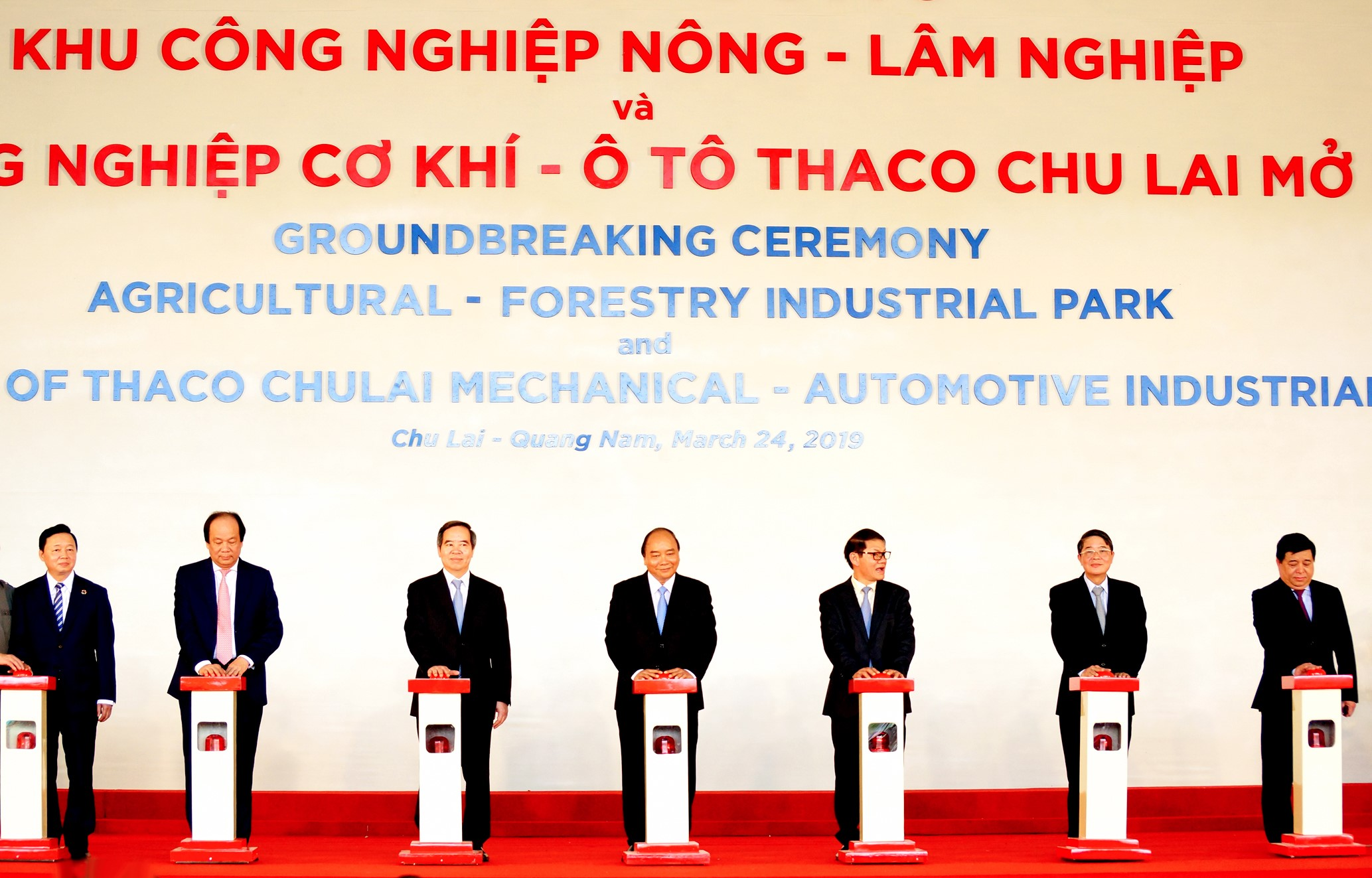 The groundbreaking ceremony of Agricultural-Forestry Industrial Park and Expansion of THACO Chu Lai Mechanical Automotive Industrial Park