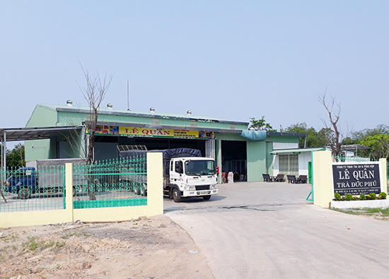 Công trình không có giấy phép xây dựng trên gần 1.000m2 đất nằm trong quy hoạch đường bao Nguyễn Hoàng tại phường An Sơn. Ảnh: X.T