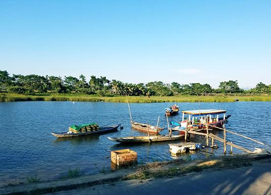 Xã Cẩm Kim (TP.Hội An) có cảnh quan hữu tình thích hợp để phát triển du lịch xanh. Ảnh: Q.T