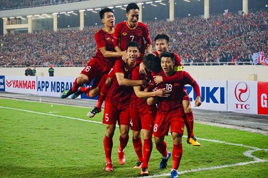 Niềm vui của U23 Việt Nam sau chiến thắng ấn tượng trước Thái Lan. Ảnh: Internet