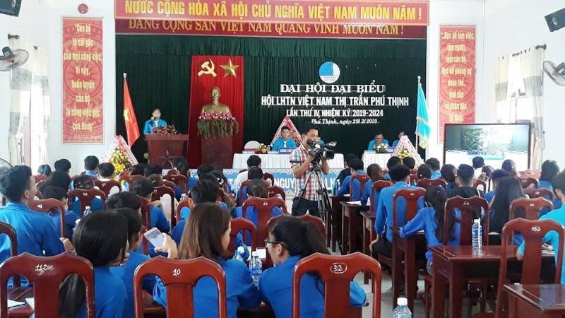 Quang cảnh Đại hội Hội LHTN Việt Nam thị trấn Phú Thịnh nhiệm kỳ 2019 - 2024. Ảnh: CTV