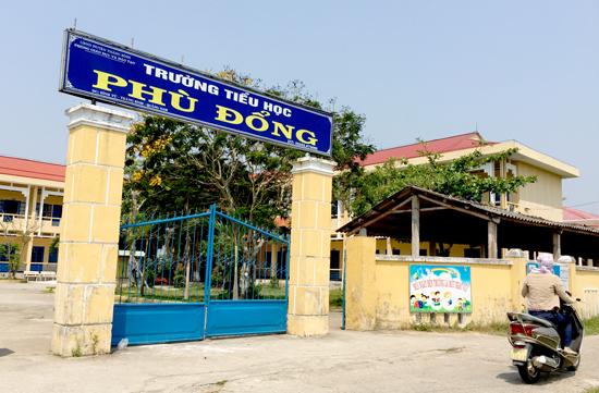 Trường Tiểu học Phù Đổng (xã Bình Tú) cần kinh phí xây dựng thêm 4 phòng học. Ảnh: PHAN VINH