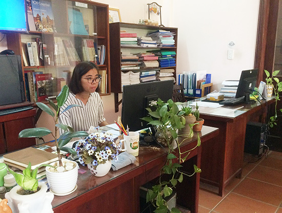 Green working environment in Hoi An.