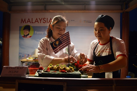 Food booth by a Malaysian chef.