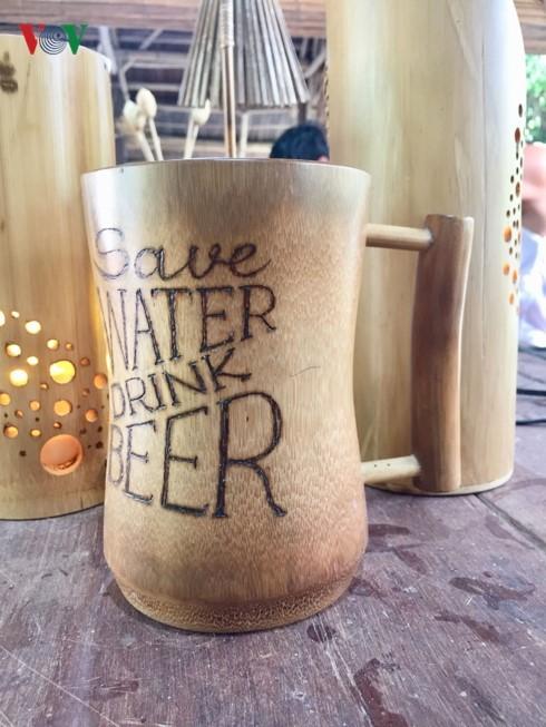 A bamboo mug.
