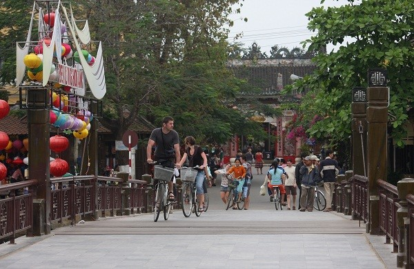 The low-cost/free bike sharing programme carried out in Hoi An