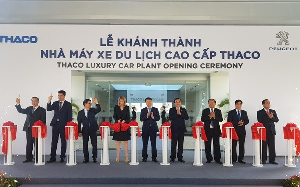 The opening ceremony of THACO luxury car plant.