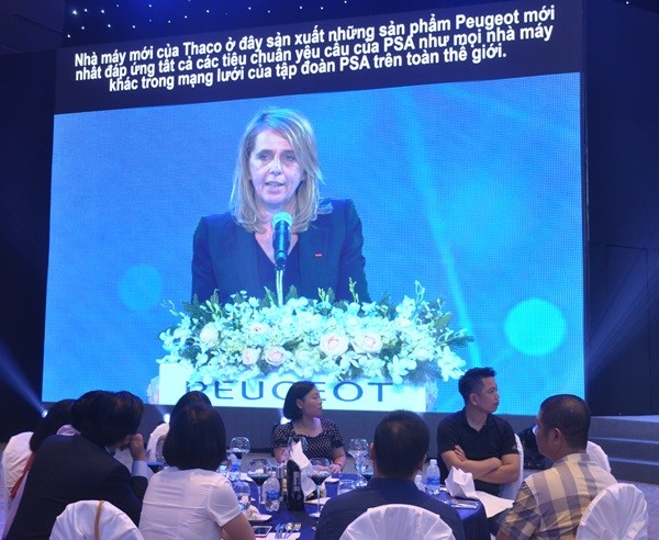 Ms. Laurence Noel – CEO of the PSA in Southeast Asia gives a speech at the event.
