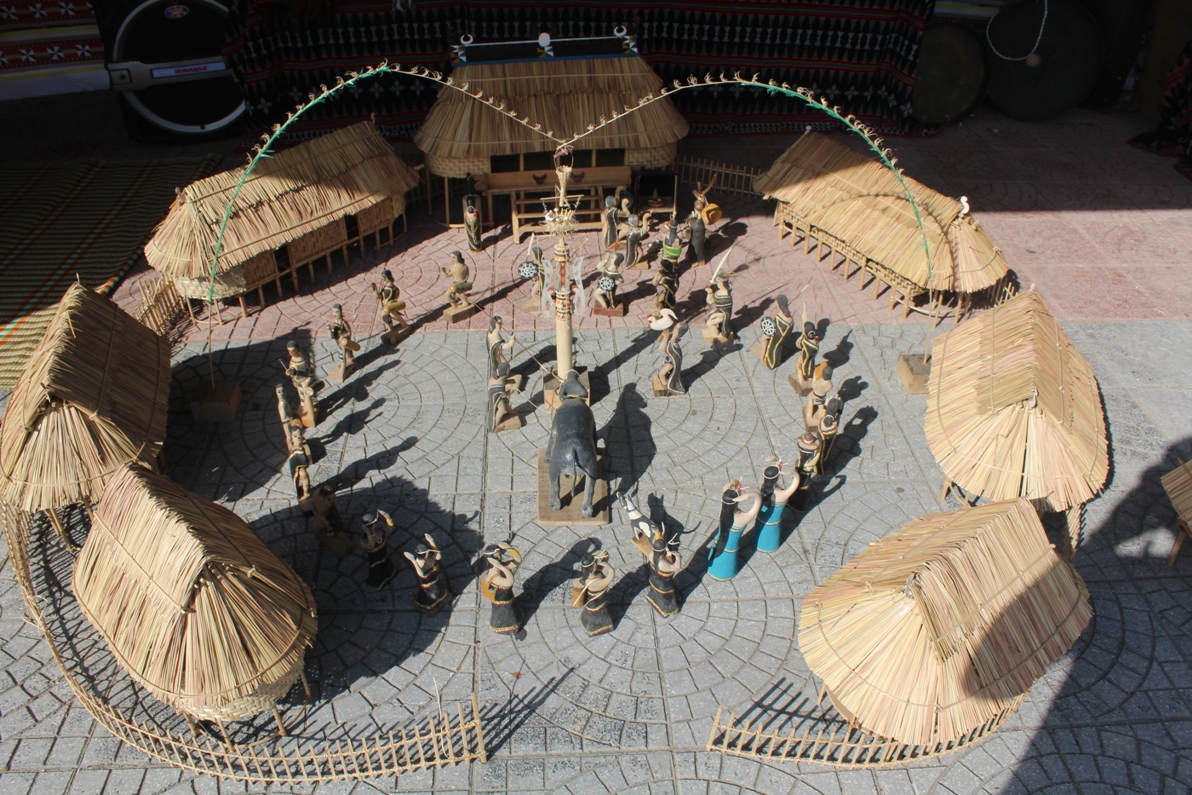 The model of Co Tu traditional village