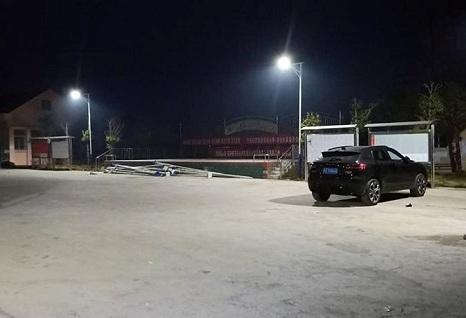 Solar lights in Quang Nam rural roads.