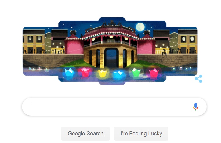 Homepage of google.com.vn on July 16