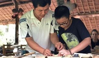 Vo Tan Tan at his shop.