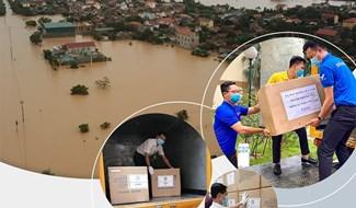 Bưu điện Việt Nam miễn phí chuyển phát hàng cứu trợ. Ảnh vnpost.vn