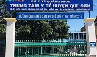Trung tâm Y tế huyện Quế Sơn. ảnh: https://songkhoe.medplus.vn/