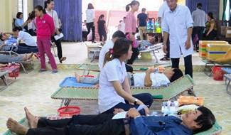 Phong trào hiến máu tình nguyện lan tỏa tại Đại Lộc. Ảnh: HOÀNG LIÊN