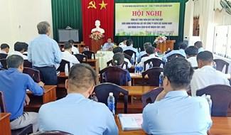 Quang cảnh hội nghị tổng kết quy chế phối hợp giữa Công ty Điện lực Quảng Nam và UBND huyện Đại Lộc. Ảnh: HOÀNG LIÊN